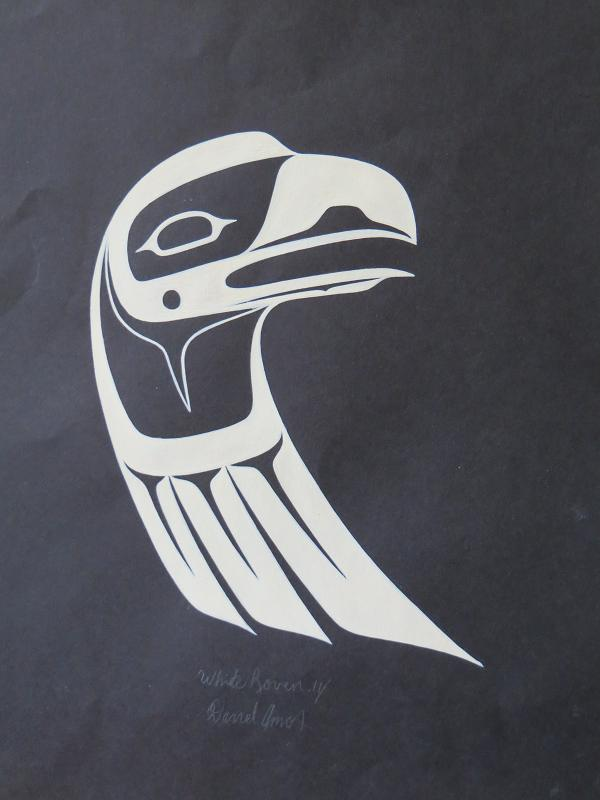 white raven-headdress