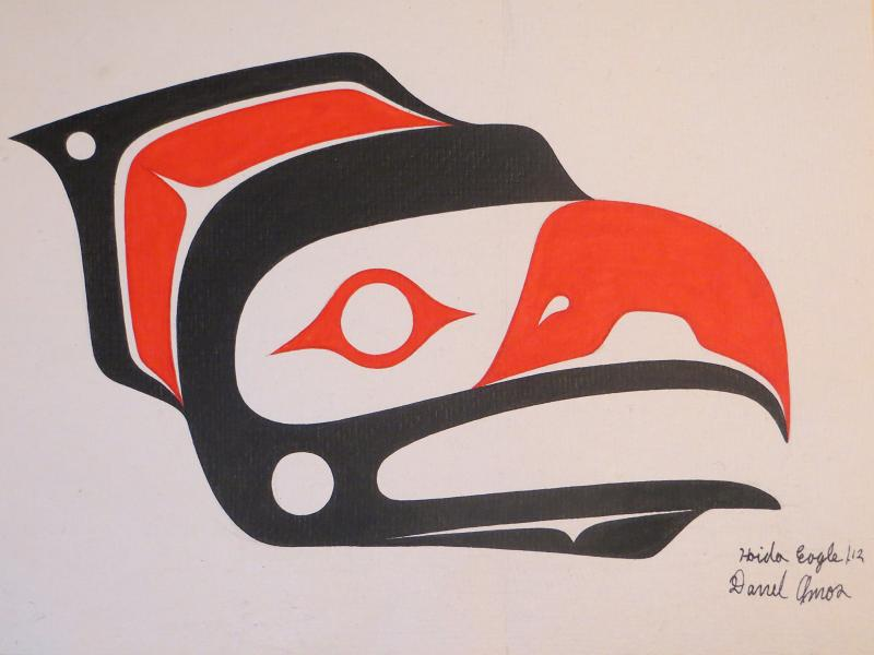 haida eagle--canvas paper